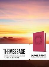 The Message Large Print : The Bible in Contemporary Language (2016, Imitation...