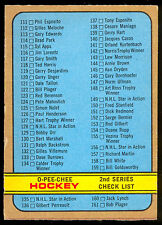 1972 73 OPC O PEE CHEE #190 CHECKLIST UNMARKED 2nd SERIES (111-209) EX-NM HOCKEY