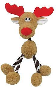 Good Boy Hug Tugz Rudolph Reindeer legs & neck Christmas dog puppy toy xmas gift