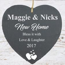 Home Gift Large Slate Heart Personalised Plaque Sla210-18