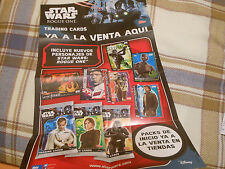 2016 POSTER CARTEL ROGUE ONE STAR WARS SPAIN SPANISH PROMO CARDS TOPPS CROMOS