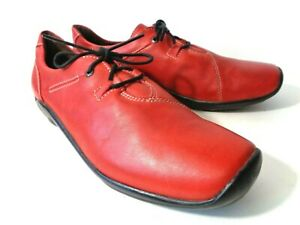 WOLKY EUR 43 US 11.5M 12M Red Leather Lace Up Low Heel Walking Shoes MEXICO