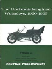 AUTOMOBILE PROFILE 43 HORIZONTAL-ENGINED WOLSELEYS 1900-1905 TRICARS BEETLES SPE