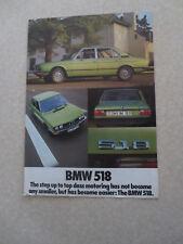 BMW 518 automobiles advertising brochure
