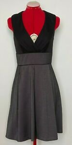 REVIEW Dress Size 10 Office Dress Grey and Black