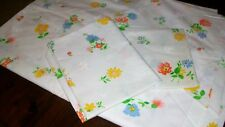 Montgomery Ward Percale Twin Flat Sheet + 2 Pillowcases Flowers Retro