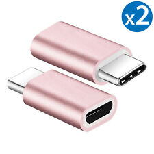 2 Pack USB 3.1 Type C Male to Micro USB Female Adapter Converter Connector USB-C