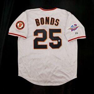 Barry Bonds signed San Francisco Giants 2002 World Series Road Jersey BONDS HOLO