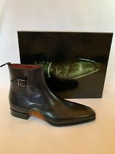 MAGNANNI Size 8 42 Eur Black Leather Boot 20135 RRP £409