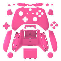 Pink Matt Xbox One S X Controller Full Custom Replacement Shell Case w/  Buttons