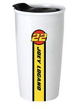 NASCAR #22 Joey Logano 12oz Double Wall Ceramic Tumbler-NASCAR Travel Mug