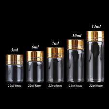 Diameter 22mm 10ml Glass Bottles with Golden Lids 5ml-14ml 5 Sizes U-Pick