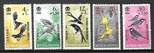 Indonesia 1964 Wildlife Fauna Birds Vögel Oiseaux compl. set MNH