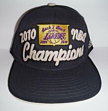 LOS ANGELES LAKERS 2009 2010 BACK 2 BACK ONE SIZE FLEXFIT HAT NEW ADIDAS CAP