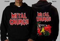 METAL CHURCH -American heavy metal band, Hoodie-sizes:S to XXL