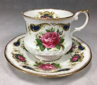 Queen's Rosina China Tea Cup Saucer Set Roses Floral Gold Trim