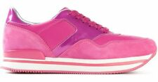 NIB Hogan Pannelled Leather Suede Sneakers PINK size 36.5 / 6 Retail $395