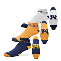 Notre Dame Fighting Irish NCAA 3 Pack Ankle Socks Men's Adult Size Large (10-12)