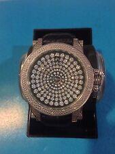 NEW TECHNO MASTER BLACK AND WHITE DIAMOND WATCH TM-2115
