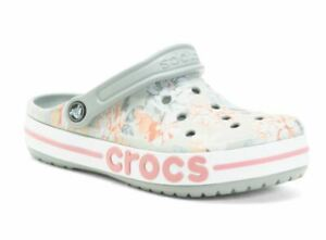 NEW Womens Crocs Bayaband Seasonal Printed Clog Shoes, size 9