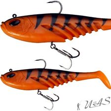 BERKLEY POWERBAIT MONTIERT FLAT GIANT 23CM ORANGE BLACK TOP SOFT BAIT GUMMIFISCH