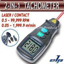 2en1 Tacómetro Tacometro Digital Medidor Láser/Contacto