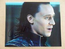 "Tom Hiddleston Signed :Autographed Photo ""Avenger"""