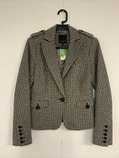Ted baker Houndstooth Jacket Wool L-58cms Size 1
