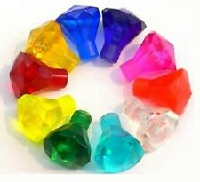 ☀️NEW LEGO Different Colors Diamond Jewels - RARE - Lot of 10 Diamonds Gems
