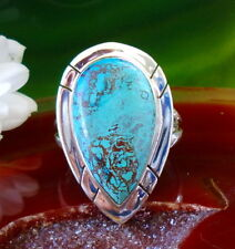 RING DROPLETS FROM Azurite Stone of the Joy in Sterling Silver 925