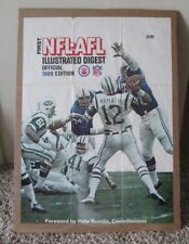 VINTAGE NFL AFL POSTER JOE NAMATH NEW YORK JETS vs BALTIMORE COLTS VERY RARE