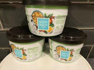 (3) South Beach Diet SOUP White Bean Chicken Chili 20gm Protein BBD Jan/2022+