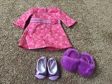 American Girl Doll Chrissa Meet Dress Shoes And Slippers EUC