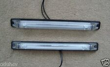 2 LONG FRONT WHITE/CLEAR LED SIDE MARKER LIGHTS FOR IVECO SCANIA DAF MAN VOLVO