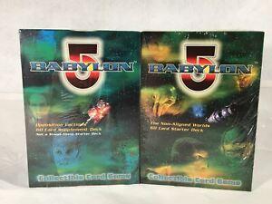 Babylon 5 The Great War - Starter / Supplement Decks CCG Game Card Box Sealed
