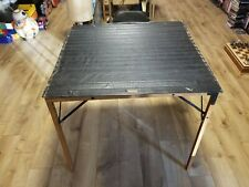 Vtg Mid Century Gold Medal Furniture Leather Military Folding Card Game Table
