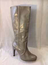 Lotus Grey Knee High Leather Boots Size 38
