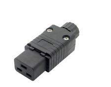 16amp C19 rewireable IEC presa/connettore fornito in colore nero per single in