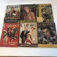Lot of 6 1947 1948 Coronet Magazines Advertising Vintage