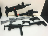 "[64710] 1990's 12"" HASBRO GI JOE PISTOLS and LONG GUNS ACCESSORIES LOT"