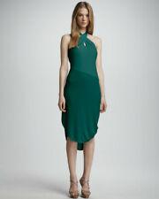 New Halston Heritage Tropical blue halter neck dress M RRP $345