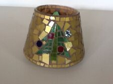 Holiday Christmas Christmas Tree Mosaic Candle Shade Home Interiors Gifts Gtc