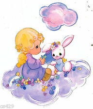 "5.5"" Precious moments girl cloud nursery peel & stick wall border cut out"