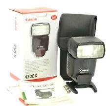 Canon Speedlite 430EX Shoe Mount Flash c/w Pouch, Box & Instructions