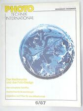 (PRL) PHOTO TECHNIK INTERNATIONAL 6/87 1987 MITTELFORMAT FOTO DESIGN MEDIUM FOR.