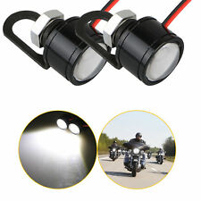2-pack White LED Motorcycle Handlebar Spotlight Headlight Driving Light Fog Lamp