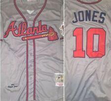 Retro Atlanta Braves Chipper Jones Throwback Gray Replica Medium Baseball Jersey