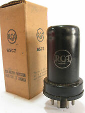 One 1944 RCA 'MeatBall' 6SC7 tube - New Old Stock / New In Box
