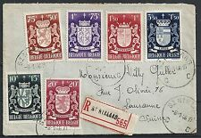 Belgium 1946 R-cover St.Niklaas to Lausanne