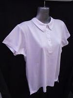 BNWT Ladies Sz 14 Rivers Brand Smart White Short Sleeve Relaxed Fit Polo Top